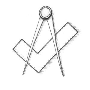 Symbole der Freimaurer - Winkelmaß & Zirkel